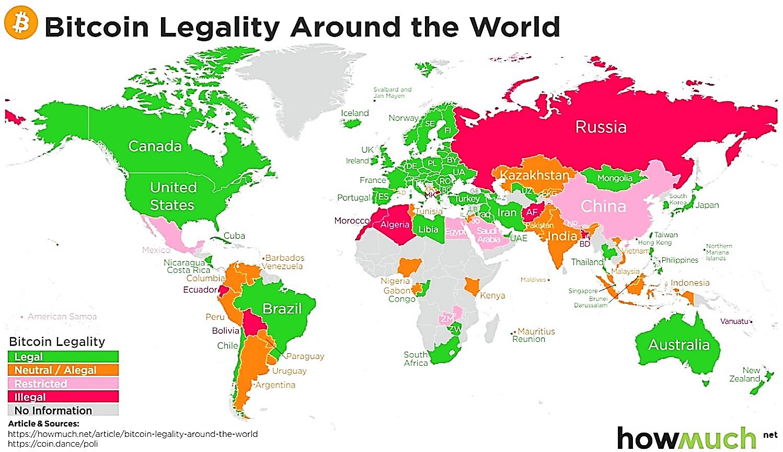 Правовой статус криптовалюты в разных странах
