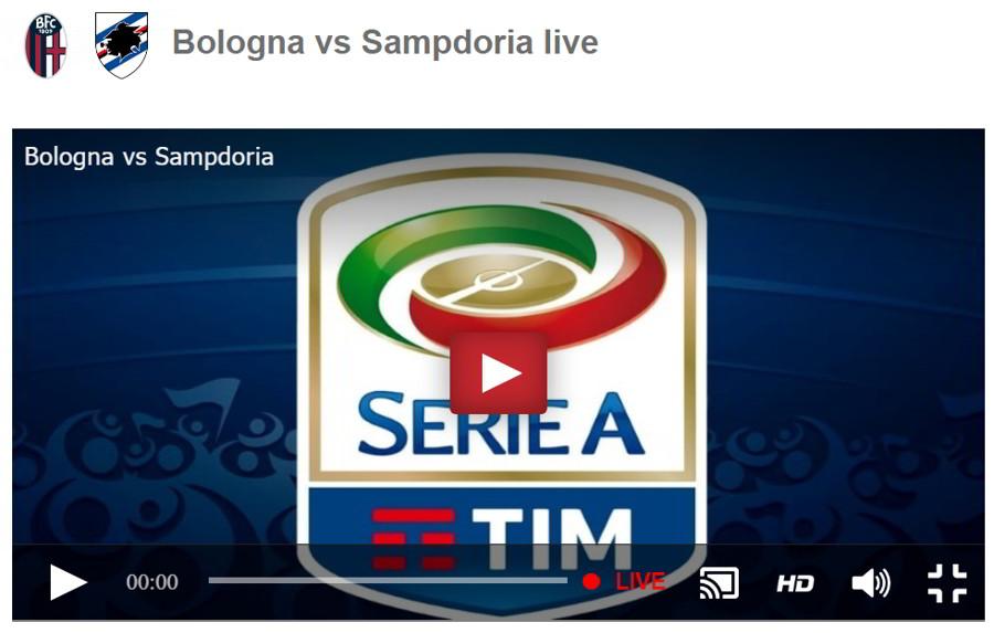 Dove vedere BOLOGNA SAMPDORIA Streaming ROJADIRECTA Video Gratis Online Sansone vs Quagliarella