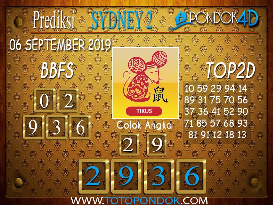 Prediksi Togel SYDNEY 2 PONDOK4D 06 SEPTEMBER 2019