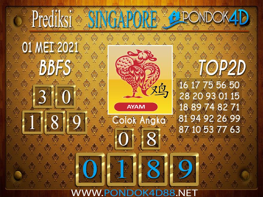 Prediksi Togel SINGAPORE PONDOK4D 01 MEI 2021