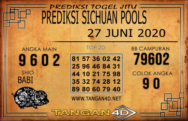PREDIKSI TOGEL SICHUAN TANGAN4D 27 JUNI 2020