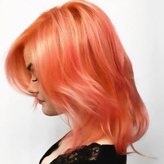 peachy red -hair-color