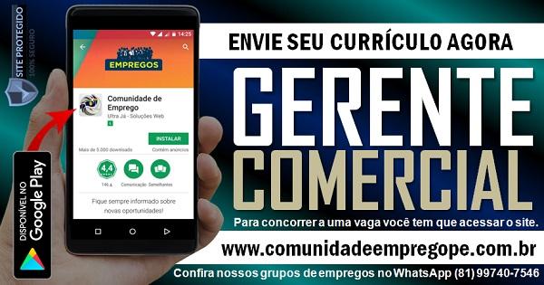 GERENTE COMERCIAL PARA EMPRESA DO SEGMENTO DE FACTORING NO RECIFE
