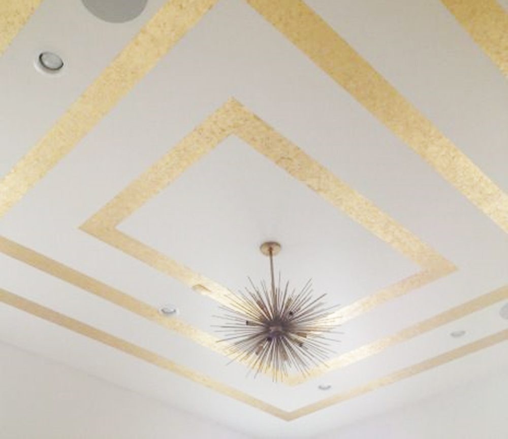 DIY gold leaf ceiling / so fun for a little girls room