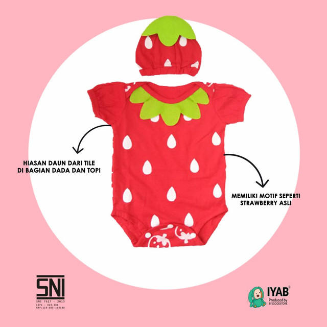 Jumper Bayi Strawberry IYAB