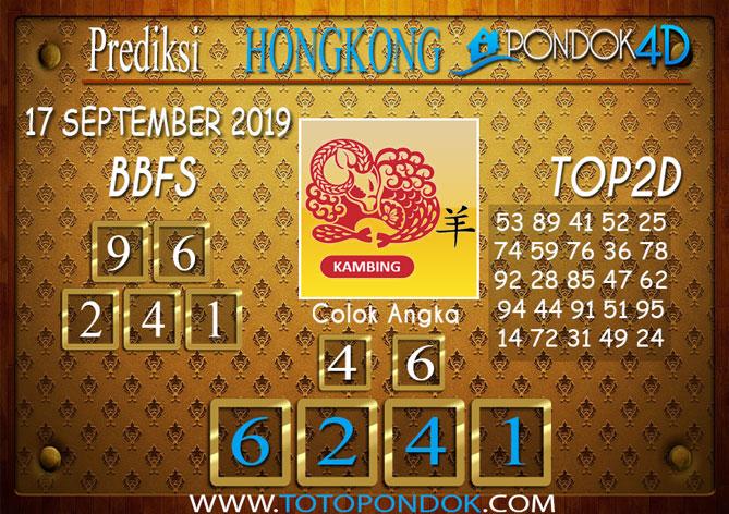 Prediksi Togel HONGKONG PONDOK4D 17 SEPTEMBER 2019