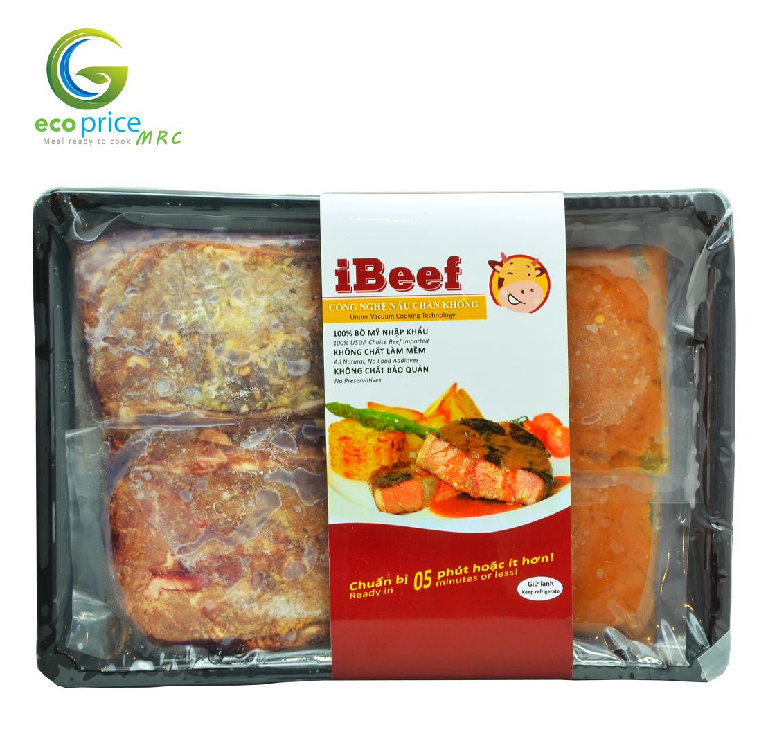 Combo Steak Bò Mỹ kèm xốt iBeef- Khay- 400gr- Ami