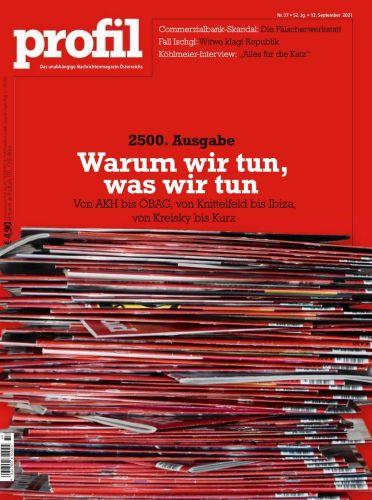 Cover: Profil Nachrichtenmagazin No 37 vom 12  September 2021