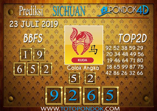Prediksi Togel SICHUAN PONDOK4D 23 JULI 2019