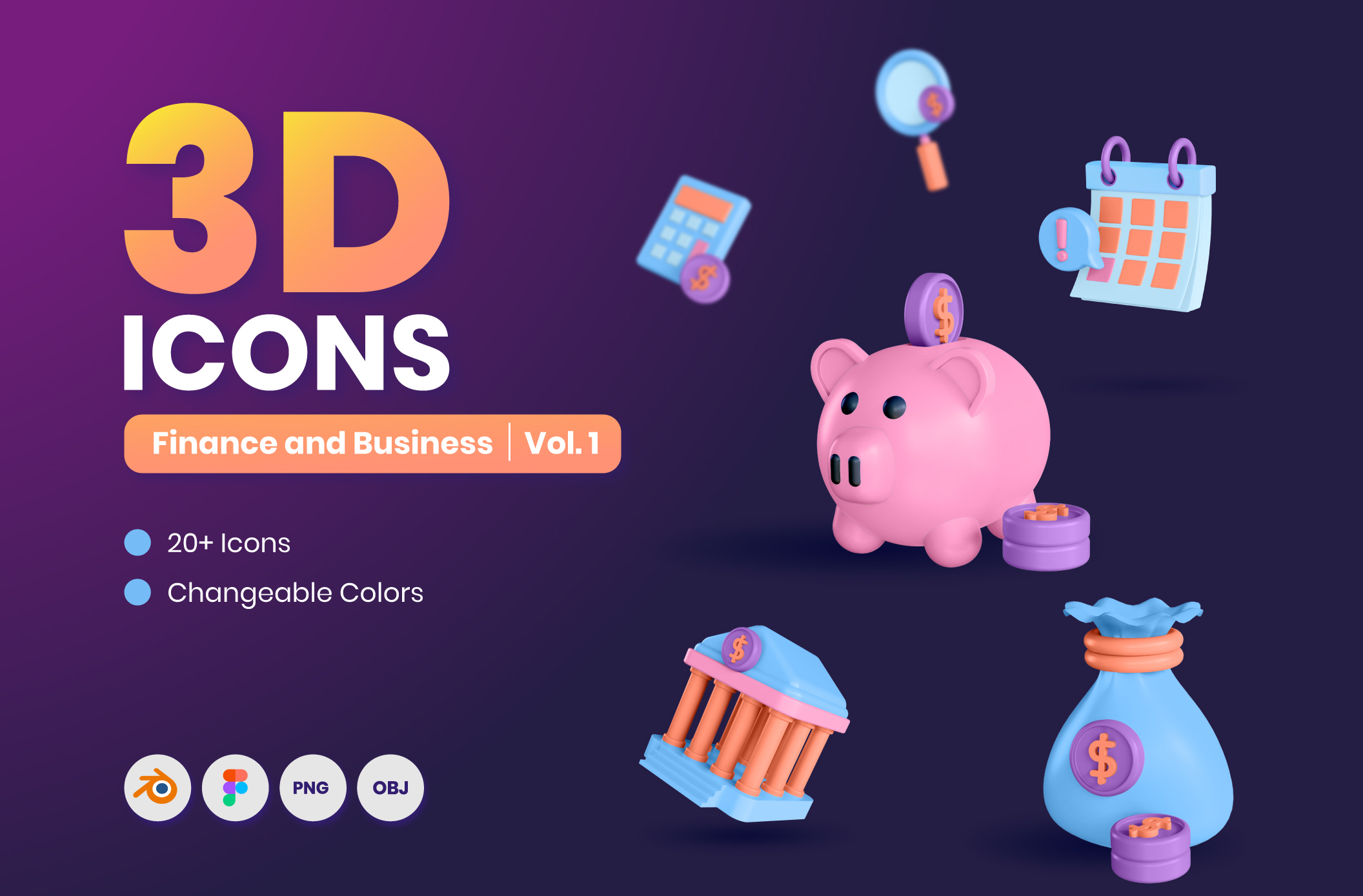 [VIP] 25 3D Finance & Business Icons