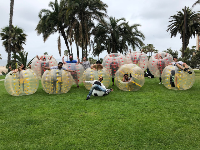 Bubble Soccer party in Santa Monica on April 27th