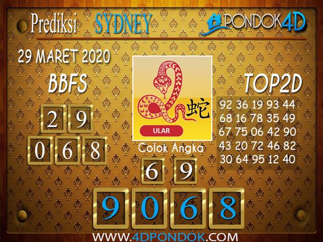 Prediksi Togel SYDNEY PONDOK4D 29 MARET 2020