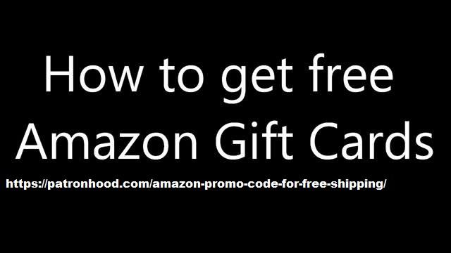 Free Amazon gift card by Patronhood
