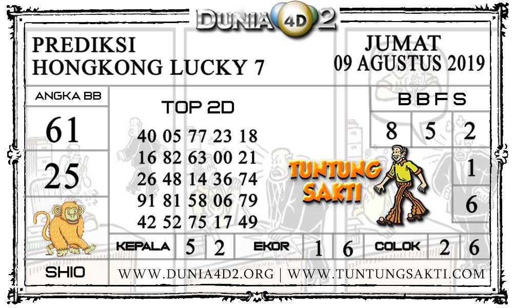 "Prediksi Togel ""HONGKONG LUCKY7"" DUNIA4D2 09 AGUSTUS 2019"