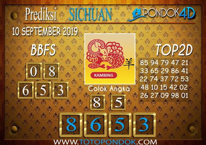 Prediksi Togel SICHUAN PONDOK4D 10 SEPTEMBER 2019