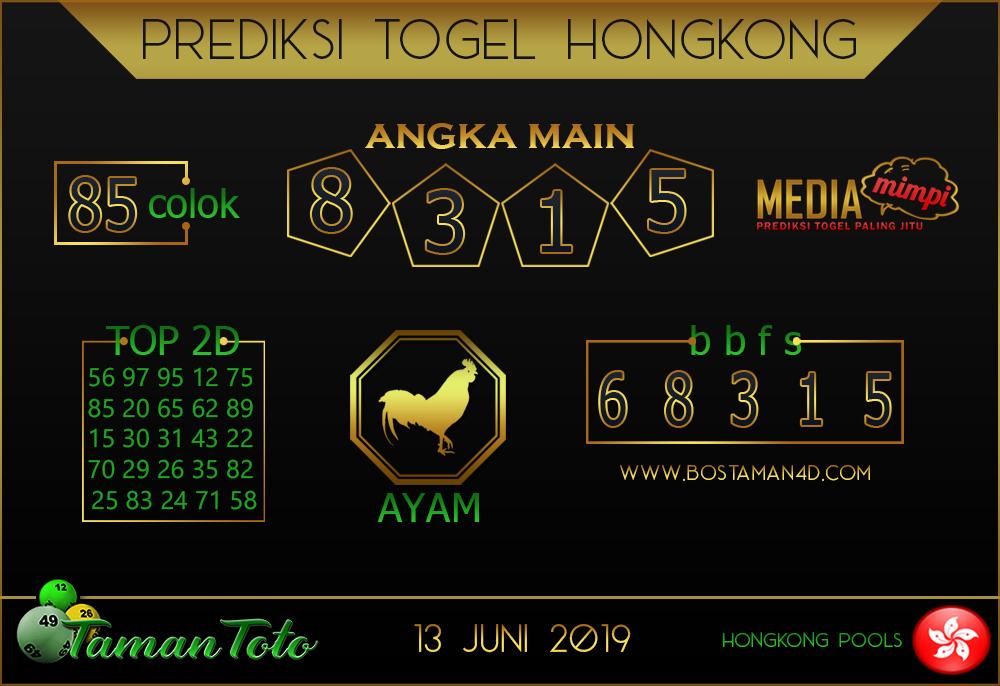 Prediksi Togel HONGKONG TAMAN TOTO 14 JUNI 2019