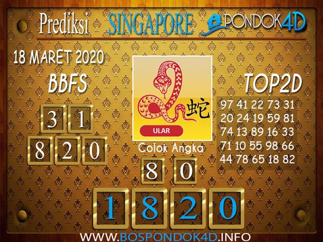 Prediksi Togel SINGAPORE PONDOK4D 18 MARET 2020