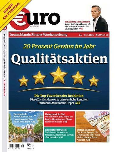 Cover: Euro am Sonntag Finanzmagazin No 38 vom 24  September 2021