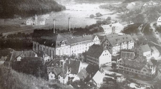 The complex of buildings of the Mauser company in Oberndorf am Neckar in 1910.
