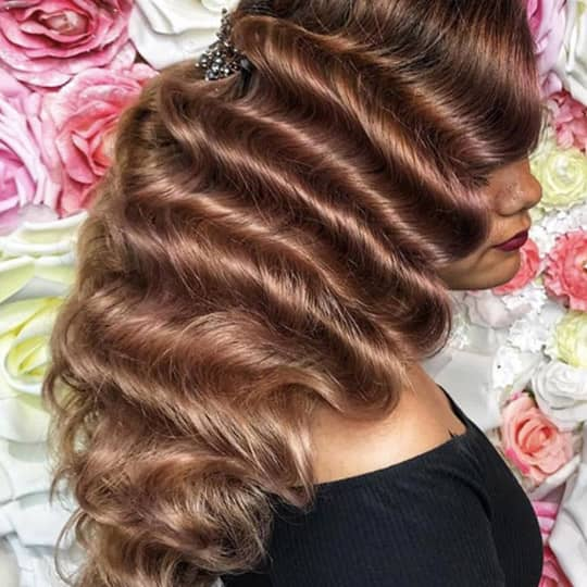 Light Brown-strawberry-styled-hair