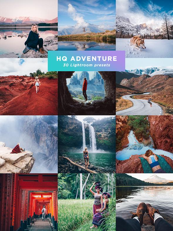 30 HQ Adventure Presets Lightroom