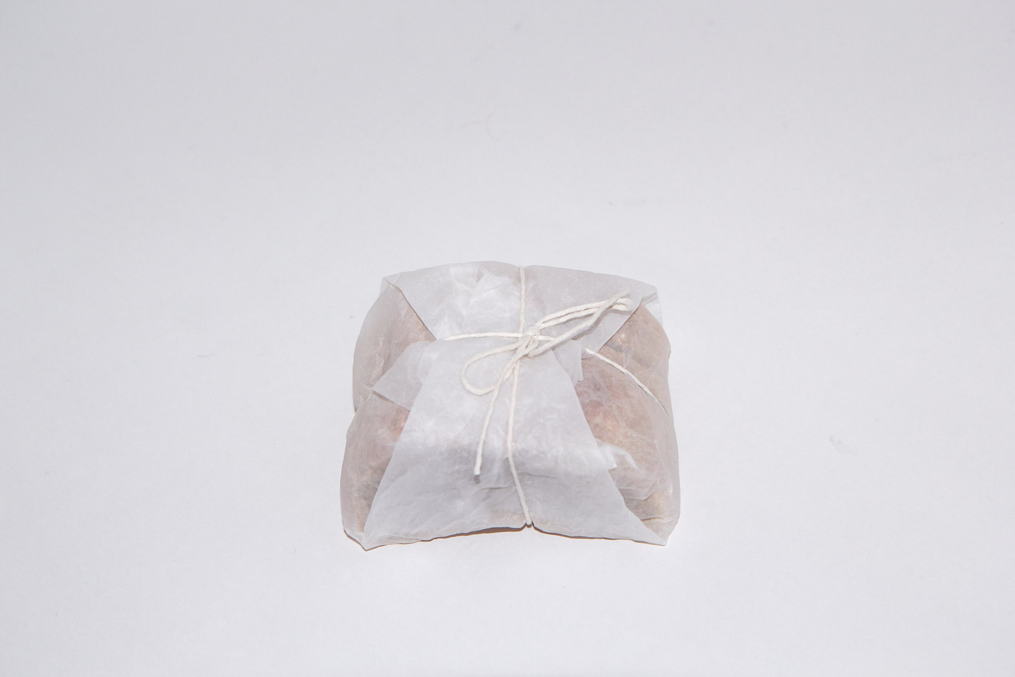 Bread wrapped in paper
