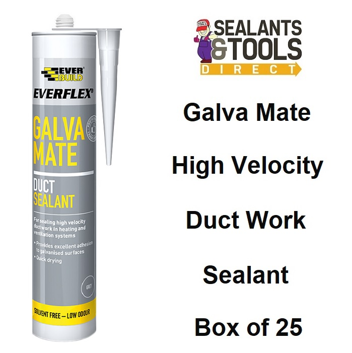 Everbuild Galva Mate Galvanised & Metal Duct Sealant GALVAM Box 25