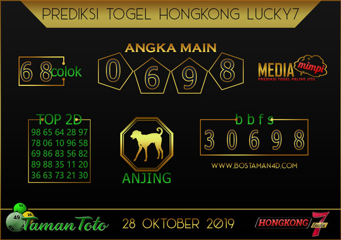 Prediksi Togel HONGKONG LUCKY 7 TAMAN TOTO 28 OKTOBER 2019