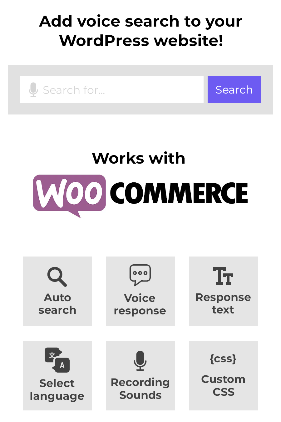 Voice To Search for WordPress & WooCommerce - 2