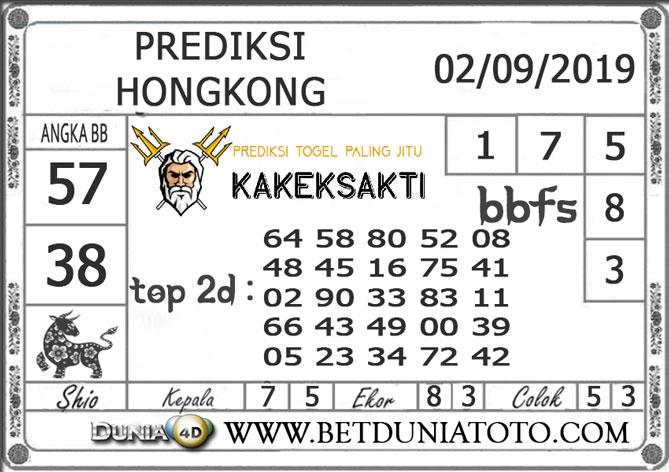 "Prediksi Togel ""HONGKONG"" DUNIA4D 02 SEPTEMBER 2019"