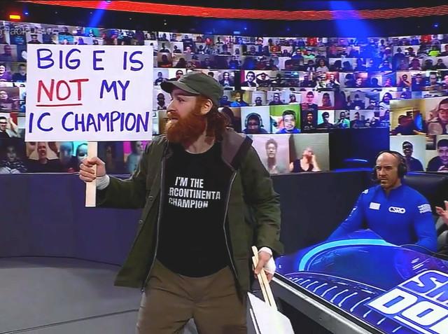 Sami Zayn y Cesaro interviene SmackDown 29 Enero