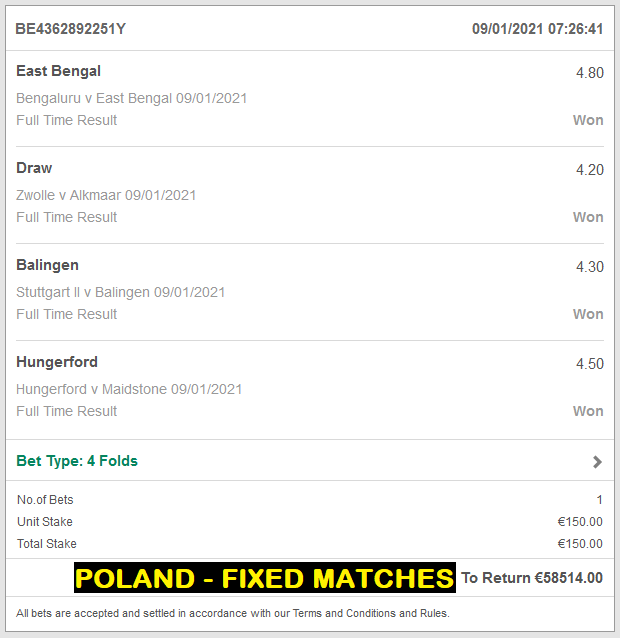 POLAND FIXED MATCHES