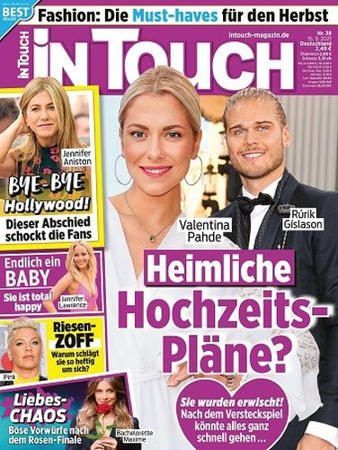 Cover: In Touch Frauenmagazin No 38 vom 15  September 2021