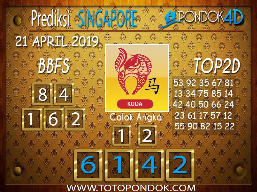 Prediksi Togel SINGAPORE PONDOK4D 21 APRIL 2019