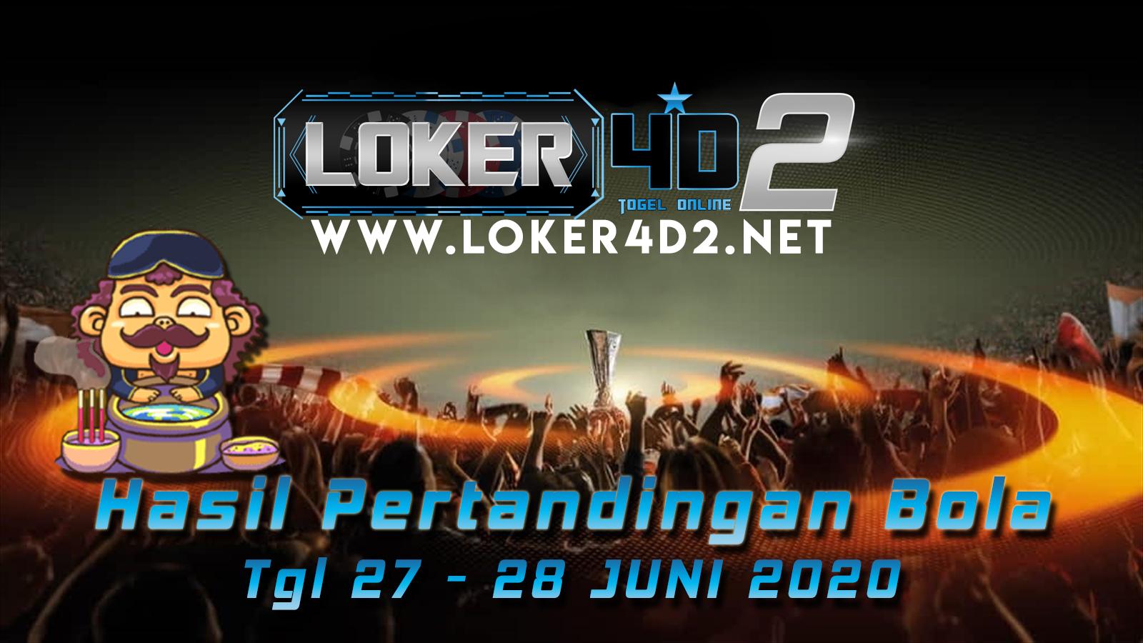 HASIL PERTANDINGAN BOLA 27 – 28 JULI 2020
