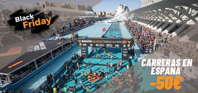 Black Friday maratón o medio maratón España Travelmarathon.es