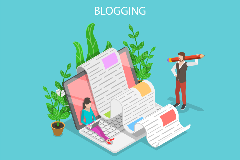 How many blog posts per month