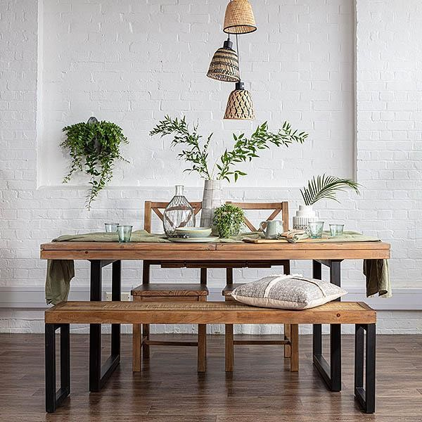 Dressing an Industrial Dining Table and Chairs