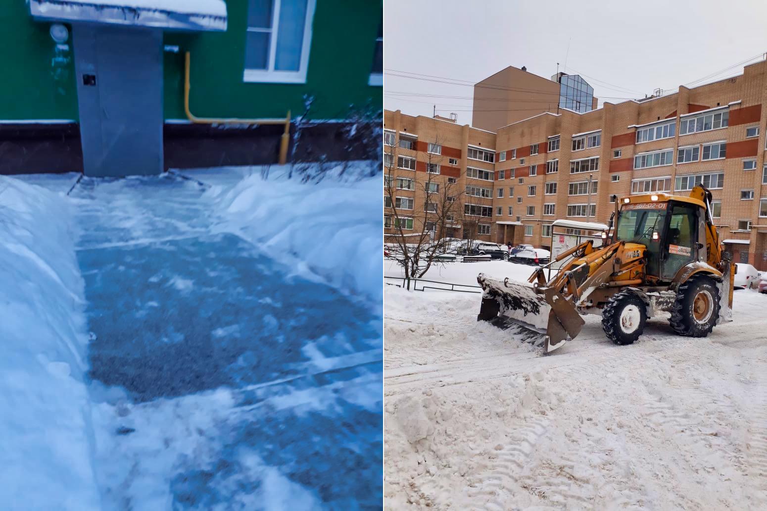 Убрали снег у домов на Полигоне после рекордного снегопада