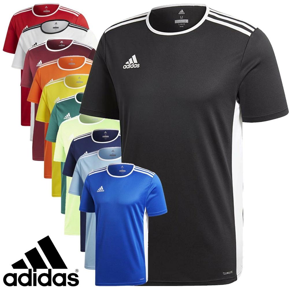 Détails sur ADIDAS T Shirt Homme Entrada 18 Climalite Manches Courtes Haut Football Taille S M L XL afficher le titre d'origine