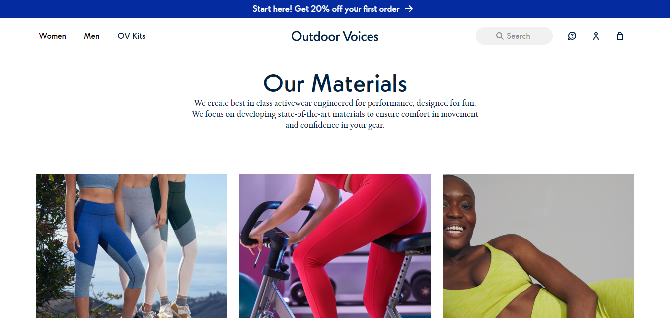 The Outdoor Voices travel product recommended by Nate Masterson on Pretty Progressive.