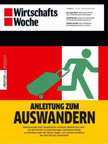 Cover: Wirtschaftswoche Magazin No 39 vom 24  September 2021