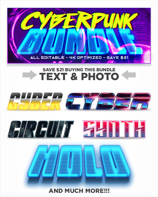 Cyberpunk Photoshop Effects Bundle
