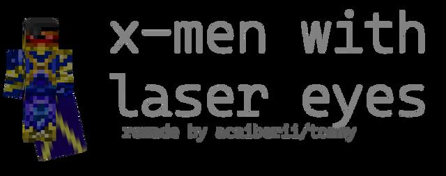 X-Men with Laser Eyes - Remade Minecraft Skin