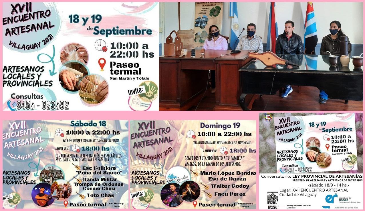 Este fin de semana se realizará el XVII Encuentro Artesanal – Villaguay 2021