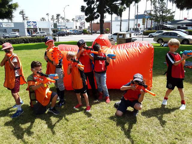 A Nerf war party is perfect for a kids day camp in Culver City on May 4th