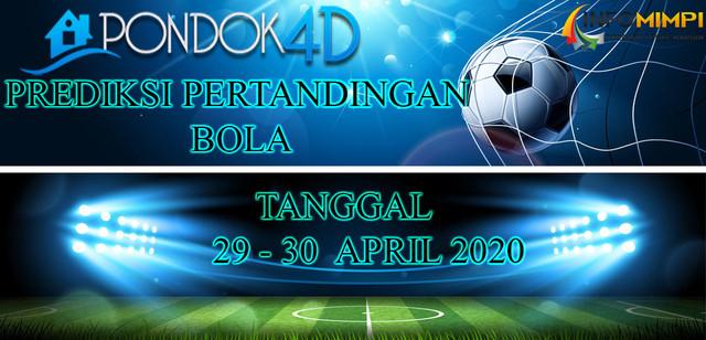 PREDIKSI PERTANDINGAN BOLA 29 – 30 APRIL 2020