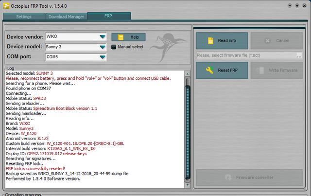 Wiko Sunny 3 spd frp lock - GSM-Forum