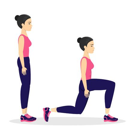 124593050-stock-vector-woman-making-lunges-doing-sport-exercises-in-gym-leg-workout-muscle-building-