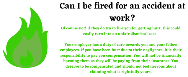 Fired for an accident at work image